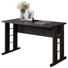 folio contemporary table writing desk black espresso desks