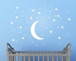 sticker cartoon picture more detailed picture about 50 stars and 50 stars and moon wall stickers for kids room creative white stars baby wall decals nursery
