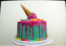 Halloween Ice Cream Cake by Easy Pink Drip Cake With Melting Ice Cream Cone I Chelsweets Youtube