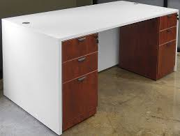 white u0026 woodgrain 4 piece office furniture package