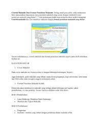 format penulisan makalah sederhana contoh makalah dan format penulisan makalah