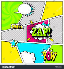 comic book page template pop art stock vector 592684547 shutterstock