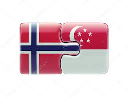 Singapore Flag Button Singapore Norway Puzzle Concept U2013 Stock Editorial Photo Eabff