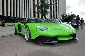 Green Lamborghini Aventador - cars don u0027t get much crazier than a lime green liberty walk
