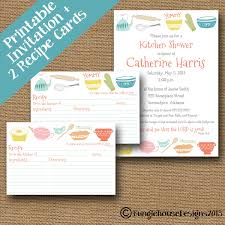 kitchen shower invitations with recipe card festival tech com