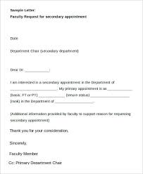 9 sample appointment request letter free sample example format