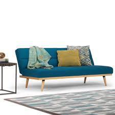 Spencer Home Decor Window Panels by Simpli Home Spencer 1 Piece Mediterranean Blue Linen Look Fabric