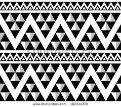 white aztec pattern on black free vector stock