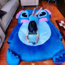 Beanbag Bed Dorimytrader Japan Anime Stitch Cover Giant Soft Thickened Beanbag