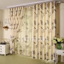 Curtains Printed Designs Casual Leaf Print Living Room Curtains Designs Decorating
