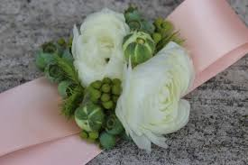white wrist corsage modern wrist corsages for weddings and special occasions