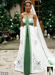 flowy white and green wedding dress c82 all about trend wedding