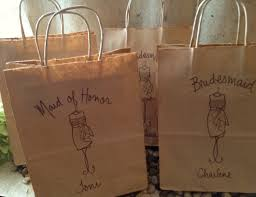 gift bags for weddings set of 5 personalized gift bags wedding favor bags for your
