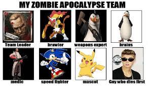 Zombie Team Meme - zombie apocalypse team meme maker
