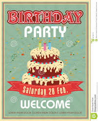 Invitations Cards For Birthday Parties Invitation Card Design For Birthday Party Stock Illustration