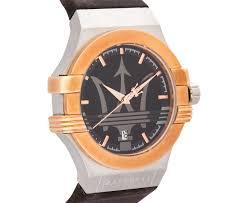 rose gold maserati car maserati men u0027s 40mm leather potenza watch rose gold black brown