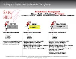 social media packages social media management company internet