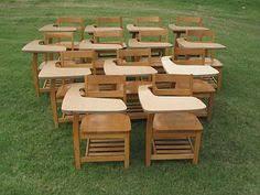 Wooden Student Desk 13 Vintage Antique Size Wooden Wood Student Desks