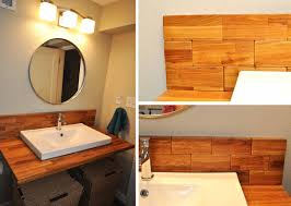 bathroom mirror with wooden frmae natural wood wall decoration
