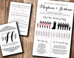 where to print wedding programs wedding silhouette program wedding party silhouette meet the