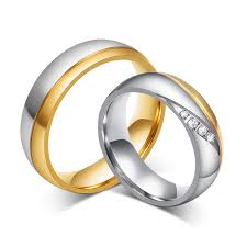 stainless steel rings for men fashion gold ring for men and women quality stainless steel