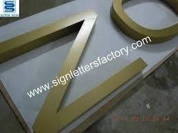 powder coated aluminum letters