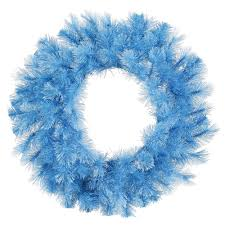30 inch baby blue cashmere pine wreath christmas trees
