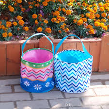 easter buckets 2018 new design easter buckets multi chevron with flower printing