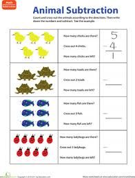 subtraction subtraction worksheets pictures cross out free