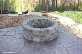 Backyard Stone Fire Pit by How To Build A Patio Firepit How To Nest For Less