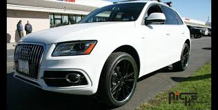 audi q5 rims and tires niche concourse matte black w stainless steel lip on 2012 audi q5