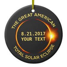 2017 total solar eclipse ceramic ornament zazzle