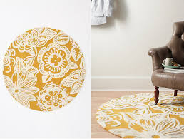 Yellow Circle Rug Circular Rugs Sydney Awesome Inspiration Ideas Black And White