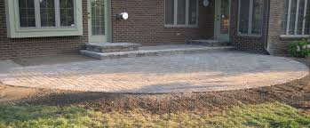 exterior cool backyard decoration with paver patio step paving