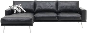 Black Corner Sofas Corner Sofa Modular Contemporary Leather Carlton By Anders