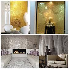 jy jh gs02 b modern home decorate wallpaper handcarft silver leaf