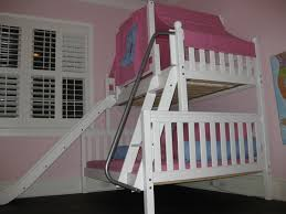 Bunk Bed Attachments Add Slide Accessories To This White Bunk Bed With