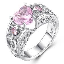light diamond rings images Romantic female princess white red blue pink light blue heart ring jpg