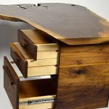 Live Edge Black Walnut Entrepreneur Desk Custom Furniture And