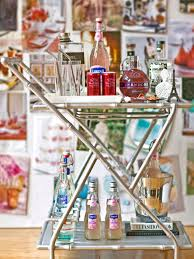 Dining Room Serving Cart by How To Style The Perfect Bar Cart Hgtv