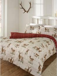 Brushed Cotton Duvet Covers Wild Deer Brushed Cotton Duvet Set Homeware Duvet Sets M U0026co