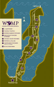 Frankenmuth Michigan Map by Wine Trail Map Wineries Of Old Mission Peninsula Our Beautiful