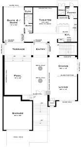 Narrow Floor Plans Baby Nursery Modern Lakefront House Plans Mcclellan Architects