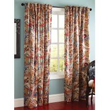 Searsca Sheer Curtains by Vibrant Paisley Back Tab Curtain Paisley Curtains Dining Room