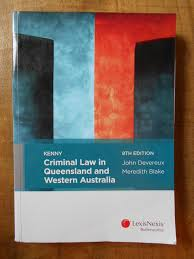lexisnexis law books kenny criminal law in queensland and western australia 8th