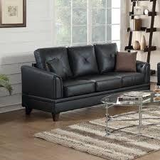 esofastore modern top grain leather sofa loveseat 2pc sofa set