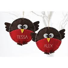 make your own felt robin decoration kit 2 pack