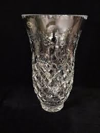 Rogaska Crystal Vase Vintage Queen Lace Bohemian Czech Hand Cut Glass Crystal Vase 14