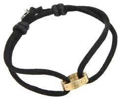 gold cord bracelet images Cartier 18k yellow gold charity love ring black silk cord bracelet jpg