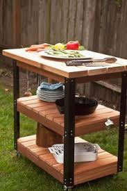Patio Table Grill How To Build A Patio Cooler And Grill Cart Combo Diy Patio